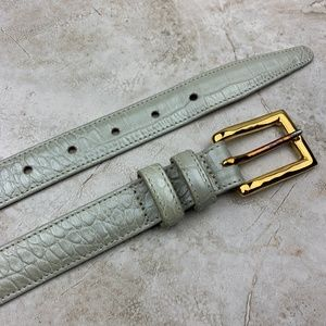 ANNABELLA — GENUINE LEATHER — Skinny Croc Belt — L
